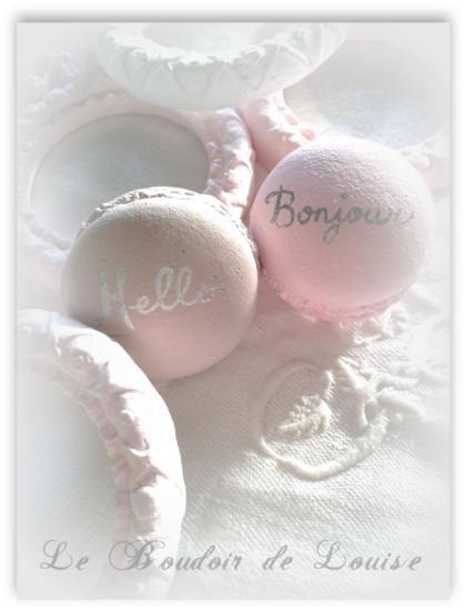 Le Boudoir de Louise (Macarons en plâtre)