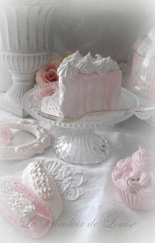 Le Boudoir de Louise (Gâteau chantilly en plâtre shabby)