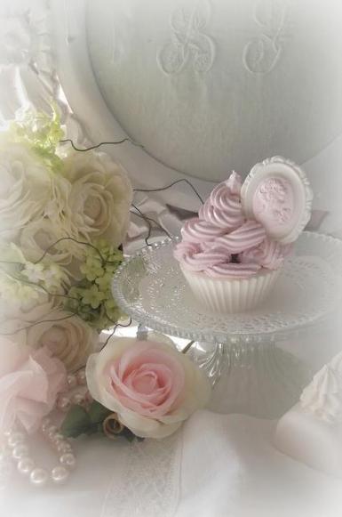 Le Boudoir de Louise (Cupcake chantilly en plâtre shabby)