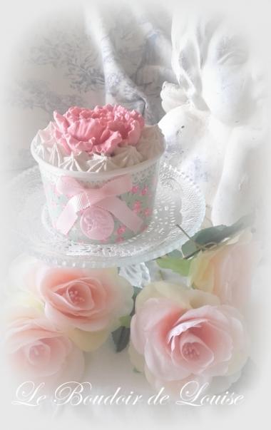 Le Boudoir de Louise (Joli pote glacé liberty chantilly  et pivoine en plâtre shabby)