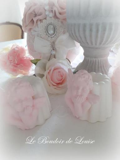 Le Boudoir de Louise (Gourmandises en plâtre shabby cannelé ange